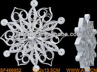 2014 christmas outdoor white snowflake ornaments,paper christmas ornament