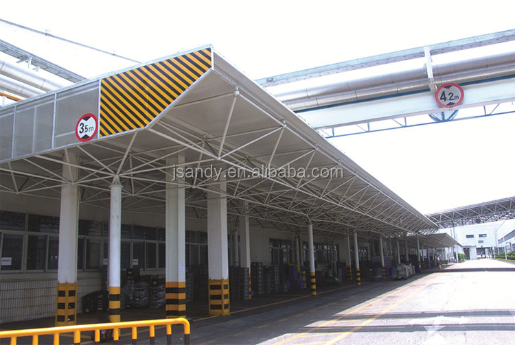 prefabricated space frame steel structure petrol station construction/ service station