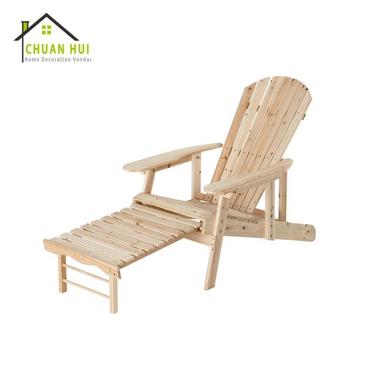 Adirondack rock chaise en bois de sapin, salon chaise avec footest