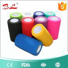 Manufacturer white rolled pet products medical elastic cohesive bandage made in China