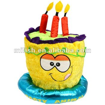Carnival Plush Funny Deluxe Birthday Cake Hat MH 1351