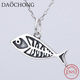cheap wholesale 925 sterling silver fish pendant for jewelry making