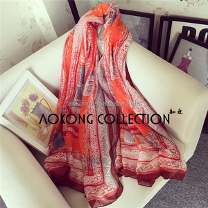 New arrival ladies light weight women bamboo wide cotton scarf