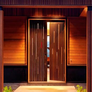 Modern Wood Door Design Exterior Restaurant Entrance Doors