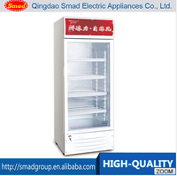 Transparent Glass Door Upright display convenience store beverage cooler