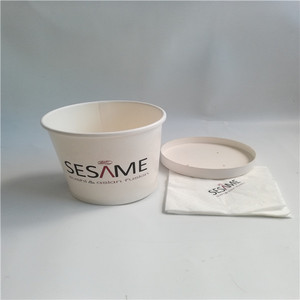 Disposable paper take away soup paper cup logo takeaway paper bowl