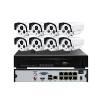 2017 cheapest CE RohS certificate 8PCS IP POE Camera +1PC 4K 8ch NVR cctv cameras kit