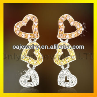 whole-hearted love wholesale fashion jewelry sets Fashionable 925 Sterling Silver Earring Jewelry