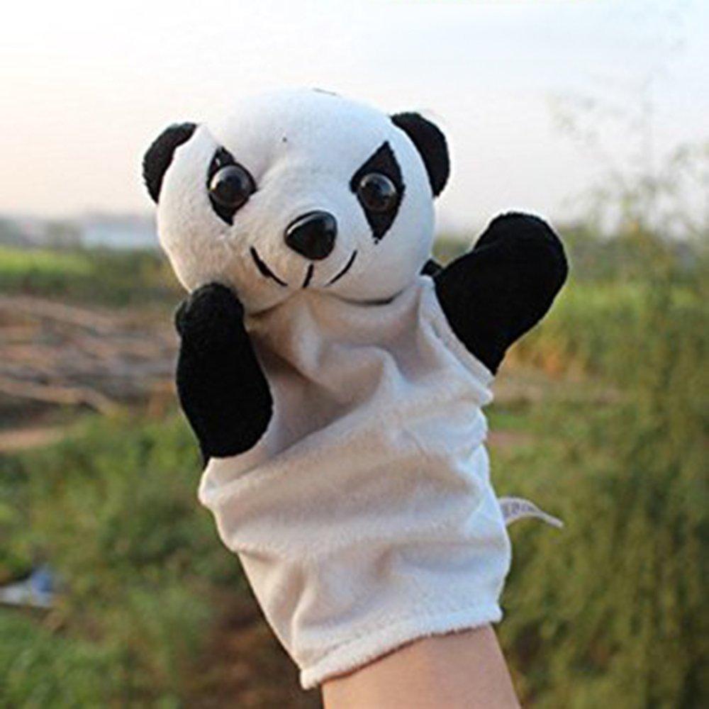 LUCKSTAR(TM) 1PC Cute Velvet Animal Style Hand & Finger Puppet Toy Plush Toy For Kids Preschool Kindergarten (Panda)