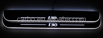 New arrival Car specific led pedal light led moving door for Hyundai i30 scuff door sill plate light
