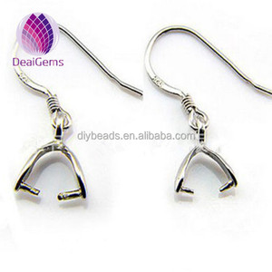 Wholesale 925 sterling silver earring finding Silver Earrings hook for DIY jewelry