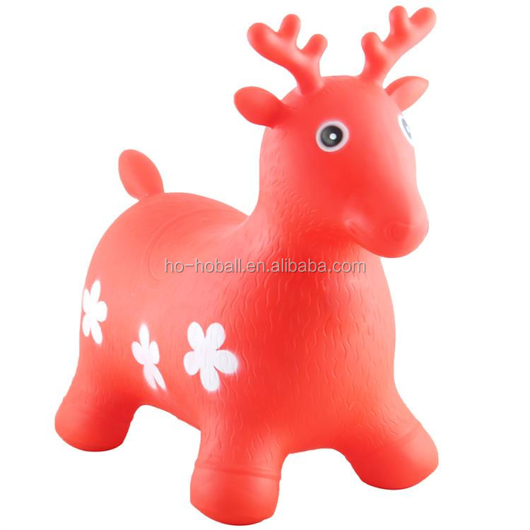 Deer bouncy hopper farm animal inflatable ride-on toy