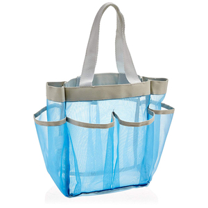 Easy Dry Portable Camping Hanging Tote Bath Caddy Mesh Travel Shower Bag