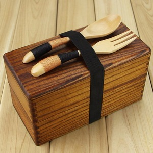 Women's Men's Adult kids Rectangle Wooden Lunch Containers Bento Box