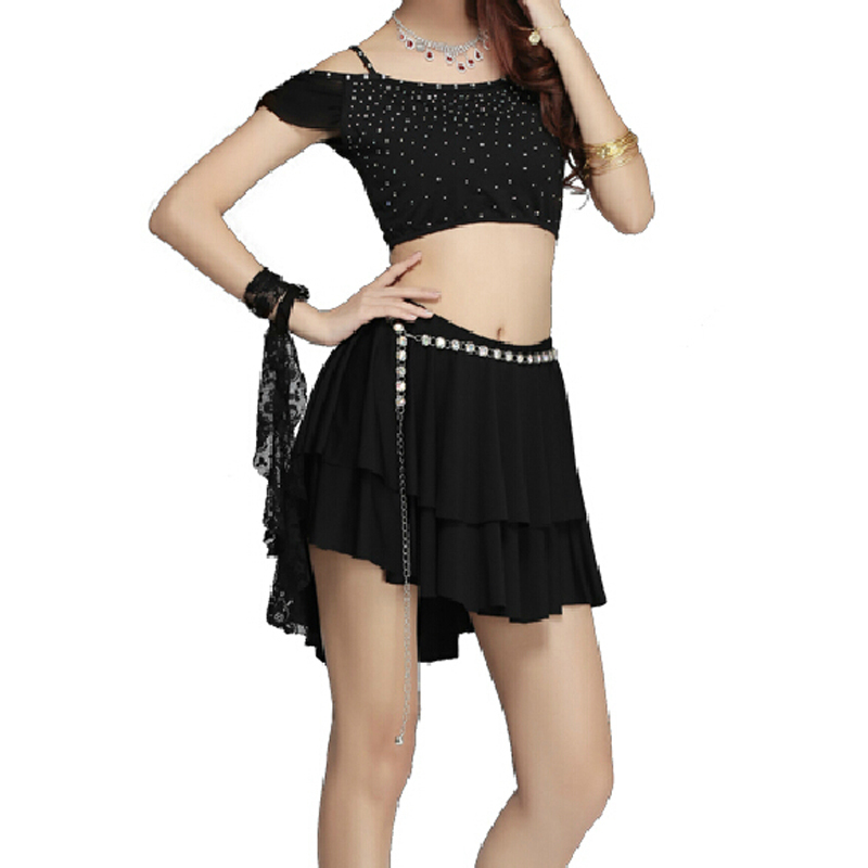 Black Short Irregular Y Ballroom Dresses Women High Lady Contemporary Dance Costumes Belly Dancing Outfits For In Price On