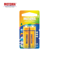 2 pcs in blister AA battery R6 made by MOTOMA super heavy duty battery 1.5V