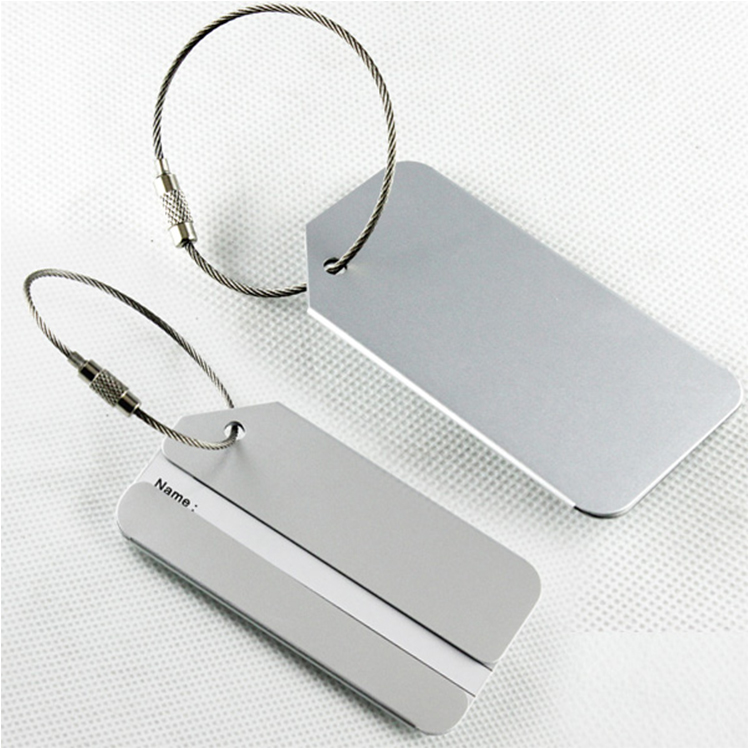 Promotional Wholesale Custom Made Logo Real Blank Travel Luggage Tag