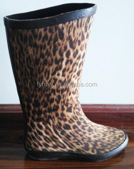 Laarzen Mode Regenlaarzen Rubber Leopard Lady Regen Vrouwen KJ3uT5Fl1c