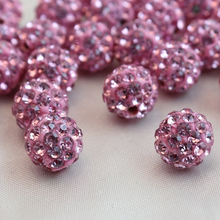 Manufacturer Supply Rhinestone Disco Pave Loose Shamballa Ball Beads Size 4mm - 18mm