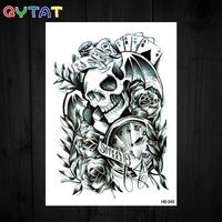 QYTAT High Quality Realistic Fake Body Water Transfer Temporary Tattoo Sticker