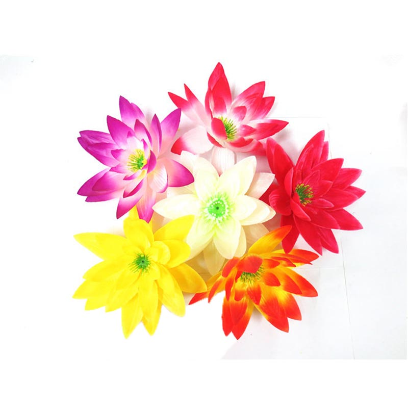 High Quality Artificial Lotus Flower Heads Corsages Silk Flower For