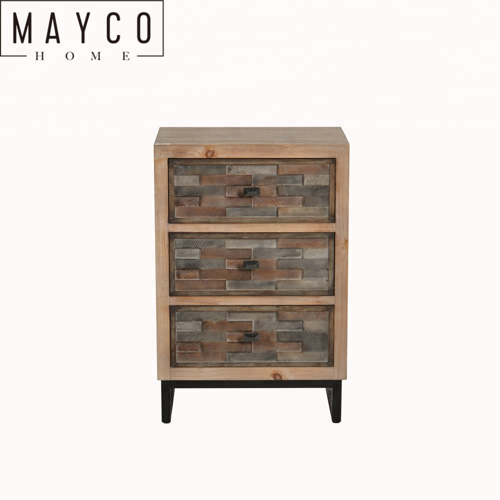 Mayco Home Shallow Chest Of Drawers Whole Modern 3 Drawer Solid Wood Corner Bedside Storage Cabinet