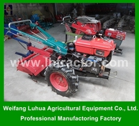 Agricultural Machinery 15hp 2 wheel mini walking hand tractor for hot sale