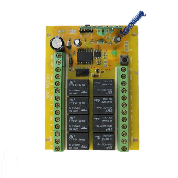 Wholesale Wireless Learning Code Eight Channels JZH-RF008 Relay / Controller