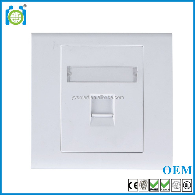 Network RJ45 CAT6 Cabling Faceplate 86 type
