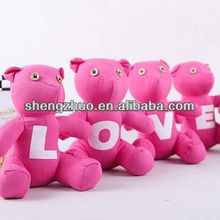 Creative printed stuffed bears special for lovers
