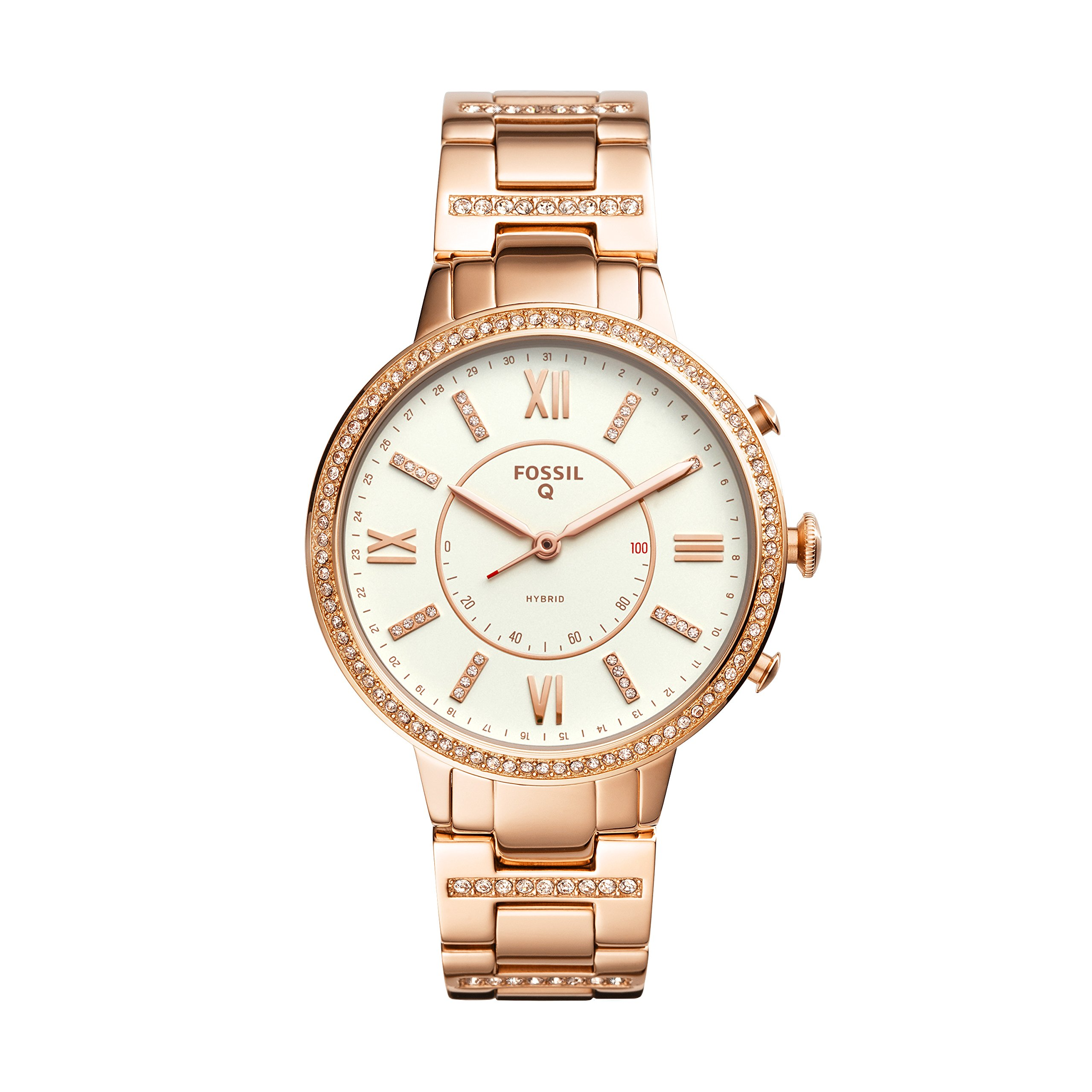 Cheap Fossil Watch Bracelet Find Deals On Jr1401 Nate Chronograph Black Stainless Steel Get Quotations Rose Goldtone