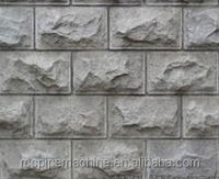 Factory New Design stone effect wall cladding mold, granite wall block