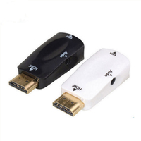 1080P HDMI to VGA adapter Digital to Analog Video Audio Converter Cable for Xbox360 PC Laptop TV Box Projector