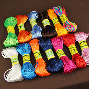 Wholesale 2mm 25 Colors Nylon Chinese Knot Rattail Stain String Beading Cord For Bracelet