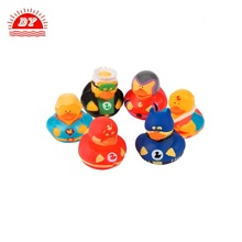 Soft small vinyl yellow duck make rubber toys