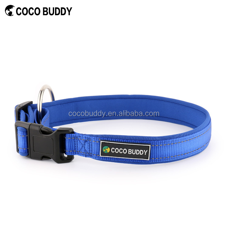 Premium Quality Neoprene Padded Reflective Sports Running Pet Collar, Extra Comfort Dog Collar and Leash