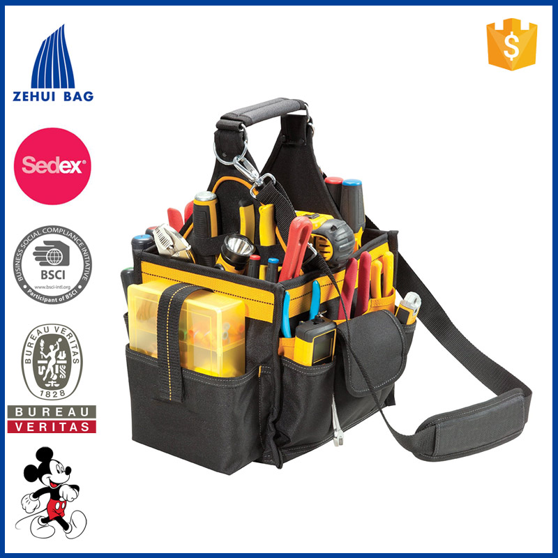 Canvas Tool Bag 11-Inch Electrical and Maintenance Tool Carrier Bag with Parts Tray