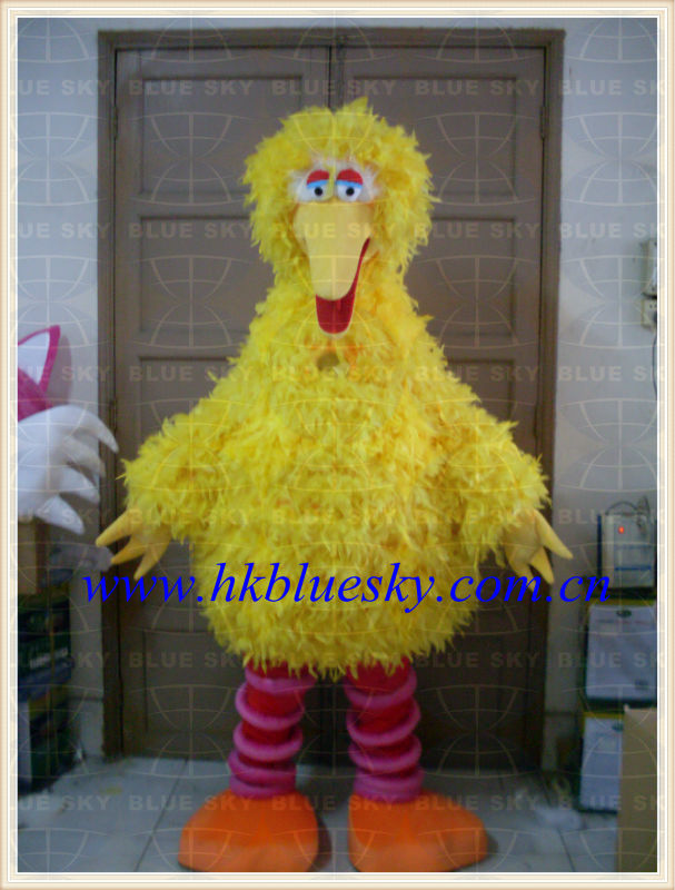 bs2013 custom made real feather big bird mascot costume