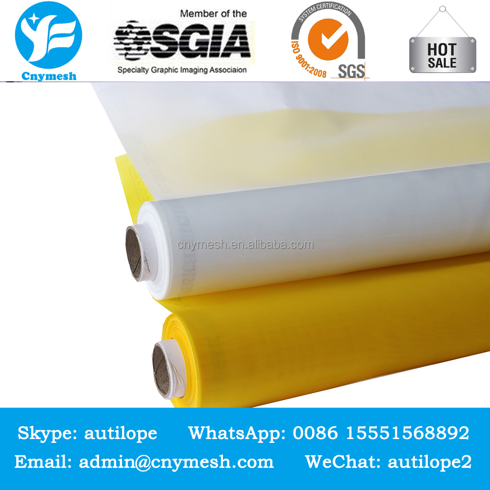 fine white yellow monofilament nylon polyester silk screen printing mesh, bolting cloth for screen printing