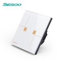 SESOO Smart home WiFi control from mobile phone Single live wire connection wifi control Wall Light Switch