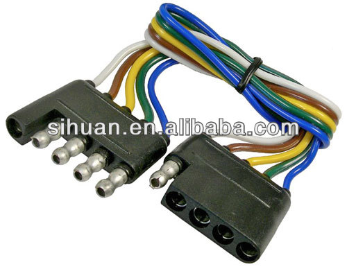 Trailer End Light Wiring Harness Bonded Flat 4 Way Pole Pin Connector on 7 way trailer connectors, ford 7 wire trailer plug harness, 7 way trailer plug wiring, 7 way trailer wiring kit, molded 7-wire trailer harness, 7 way ford trailer wiring, 7 way ford wiring harness, 7 way trailer lights, 7 way cable, seven-point trailer harness, 2002 chevrolet trailer plug harness,