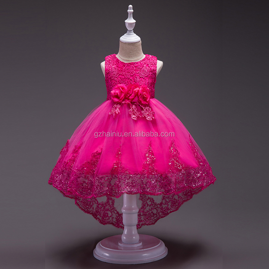 New Arrived Girl Long Princess Lace Net Yarn Dress Girls Party Gowns New Year Children kids Age 5 6 7 8 9 10 Years old