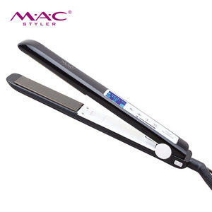 Professional LCD display hair styler fast heating flat iron ceramic hair straightener