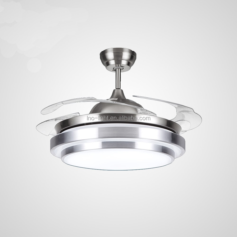 Kalux 42 Homestead Nickel Retractable Ceiling Fan With Blades Fans Lights