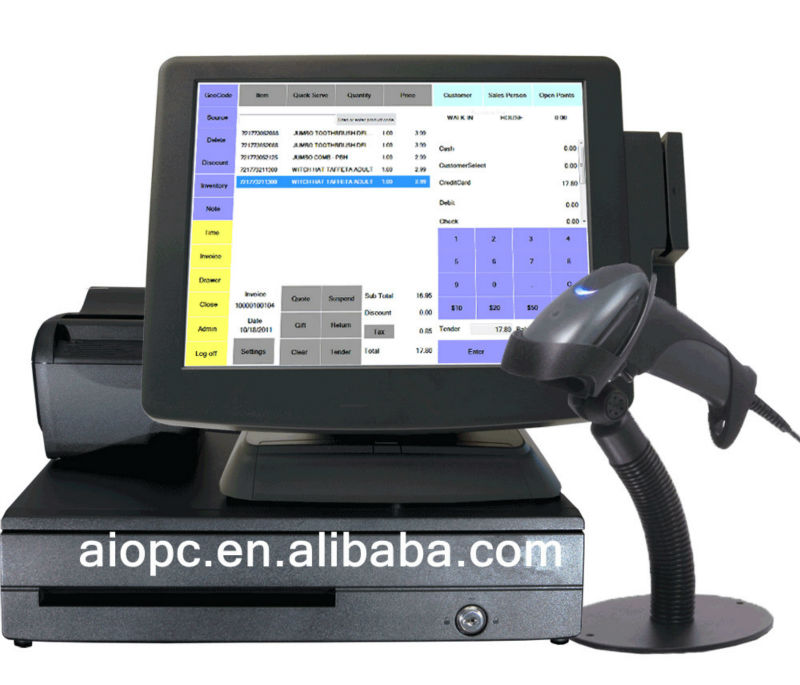 cheap cash register with scanner