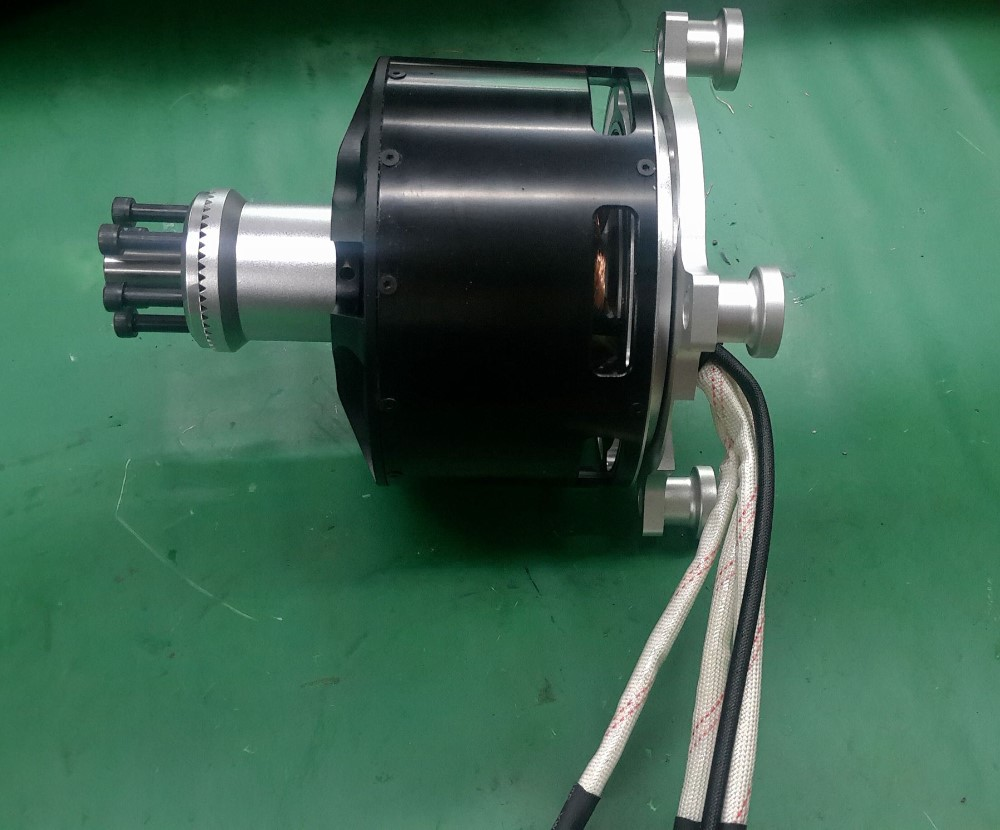 Watercooling brushless dc motor 15kw mp12090 kv130 for for Brushless dc electric motor