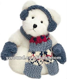 New christmas snow ball bear with scarf