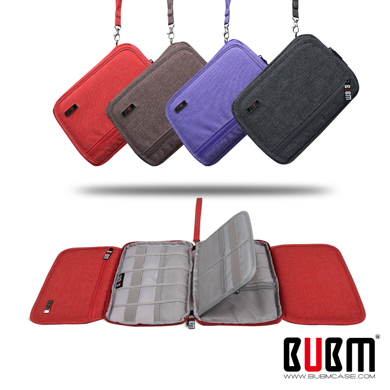 BUBM USB Flash Drive Case Bag Wallet , SD Memory Cards Cable Organizer--Travel Gadget Case for Electronics Accessories