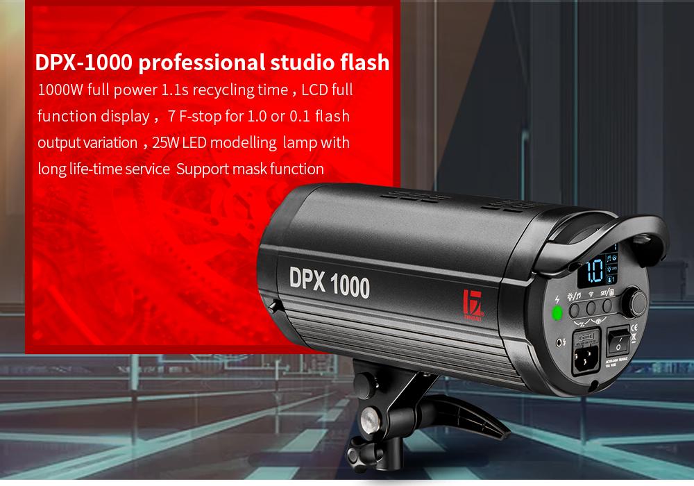 JINBEI DPX-1000 1000Ws/GN98 Big Power Studio Strobe Flash Light Commercial Advertisement Portrait Photography Strobe Light