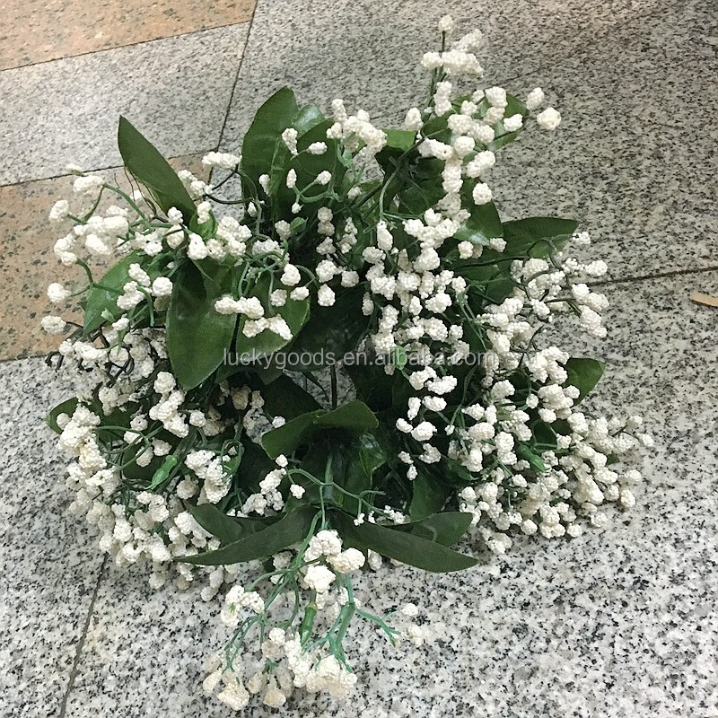 factory sale artificial babys breath with 12 branches